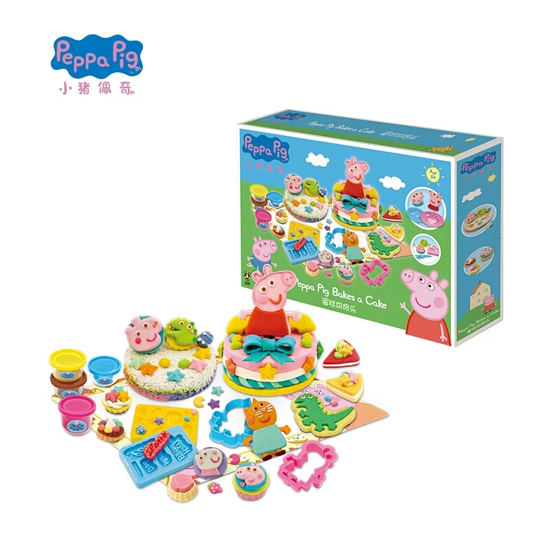 2019 new 1pcs Genuine Peppa Pig Ice cream Park Picnic Cupcake Or Mega Dough Play Dough Set peppa family and friend Activity toys image