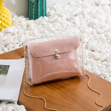 in the spring of 2018 new wings and big bag leather handbag In the summer of 2020, the new female bag transparent child and mother bag ins wind jelly bag wild handbag shoulder bag