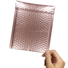 7x9 Inches Pack of 25 Rose Gold Colorful Black Red Bubble Mailers Self Seal Waterproof CD Padded Envelopes Gifts Bag 18x23cm