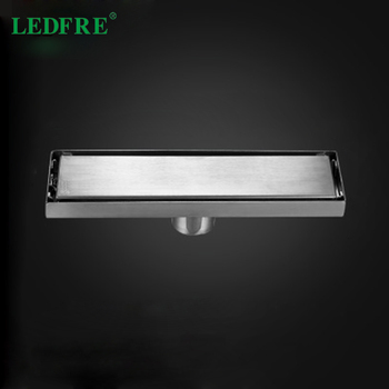 LF66010 304 Stainless Steel Invisible Floor Drain bathroom shower floor long drainage square shower room floor drain 24 long floor drain stainless steel bathroom shower square floor waste grate sanitary pop up drain
