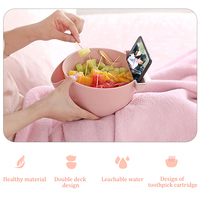 Double layer snack storage box with phone holder Creative Christmas Tree Shape Snacks Plastic Dishes Bowl Kitchen Supplies|Dishes & Plates|   -