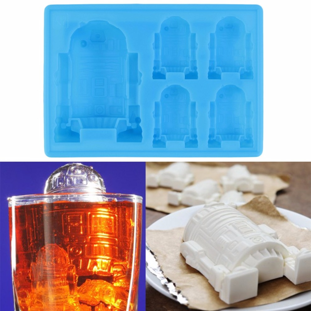 Permalink to HOT 1pc Cute R2-D2 Ice Tray Silicone Mold Cube Chocolate Fondant Moulds Kitchen Cooking Tools for kid's parties