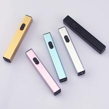 Mini Charging Plasma Arc Lighter USB Lighters Cigarette Lighter Induction Windproof Outdoor Electron