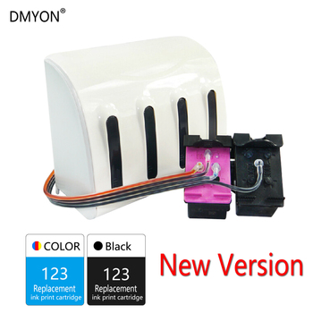 DMYON 123 Continuous Ink Supply System Compatible for Hp 123 CISS Deskjet 1110 1111 1112 2130 2131 2132 2134 2136 4510 Printer