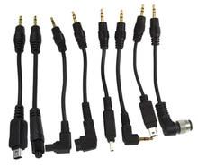 Teyeleec 2.5mm dc adaptador obturador cabo de conexão para canon nikon sony
