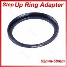 1 шт. Металл 52-58 мм шаг вверх фильтр линза кольцо адаптер 52-58 мм 52 до 58 шаг