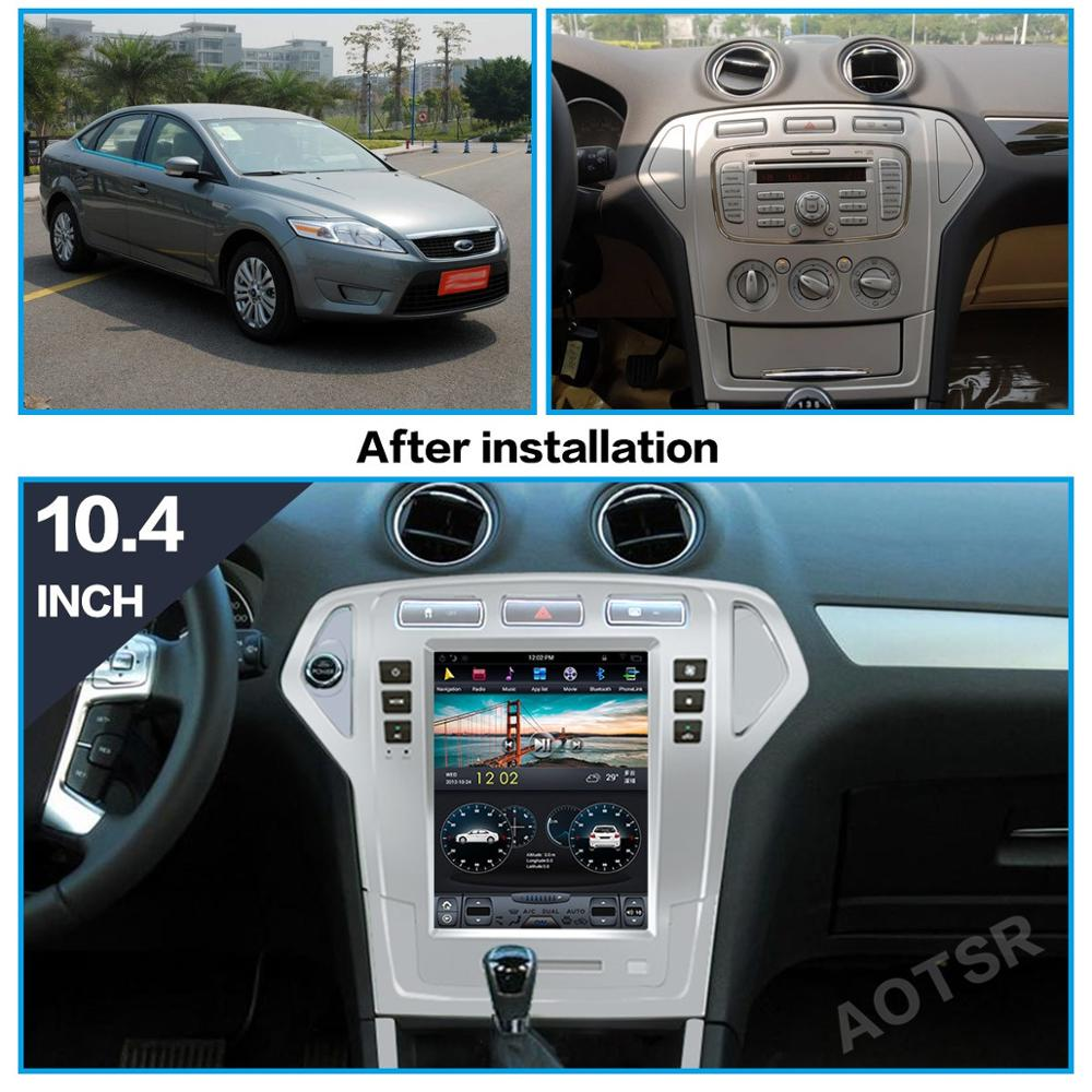 AOTSR Android 9 Car Radio For Ford Mondeo MK4 2007 - 2010 Central Multimedia Player GPS Navigation DSP CarPlay PX6 IPS Autoradio