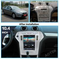 AOTSR Android 9 Car Radio For Ford Mondeo MK4 2007 2010 Central Multimedia Player GPS Navigation DSP CarPlay PX6 IPS Autoradio
