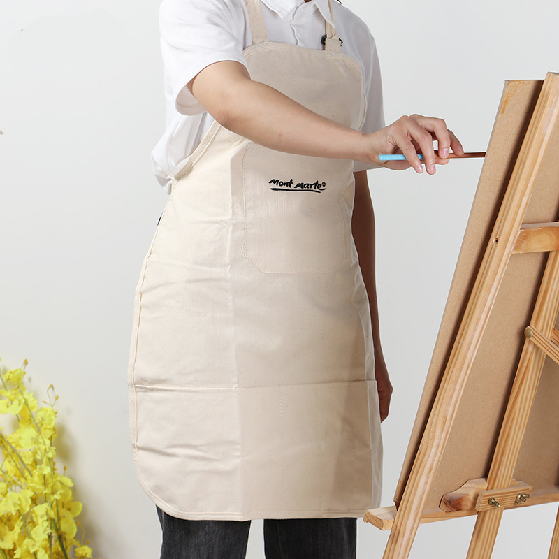 Cotton And Linen Material Apron Oil Painting Apron Adult Painting Waterproof And Antifouling Overalls