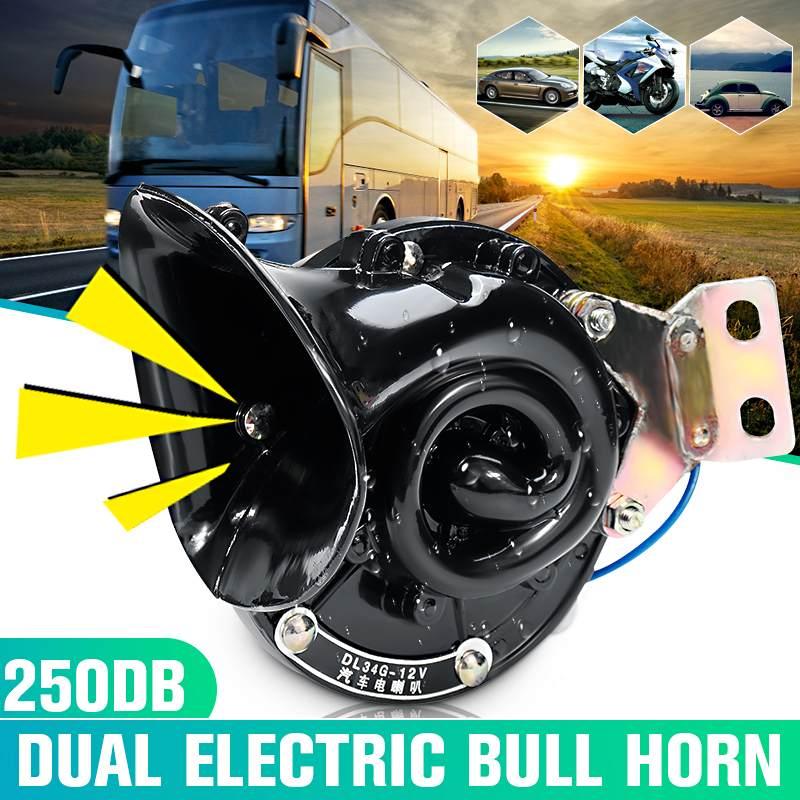 motocicletas Bocina de s/úper tren de 300 DB para camiones sonido fuerte de caracol el/éctrico de aire ruidoso con doble bocina para autom/óviles bicicletas y barcos con fuente de alimentaci/ón de 12 V