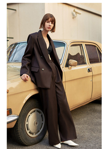 Image 5 - [EAM]  Women Brief Double Breasted Big Size Blazer New Lapel Long Sleeve Loose Fit  Jacket Fashion Tide Spring Autumn 2020 1H837