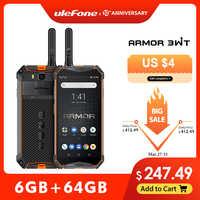 Ulefone armor 3wt walkie-talkie robusto telefone móvel 2.4g/5g wifi android 9.0 6 gb 64 gb 10300 mah nfc 4g globalvision smarphone