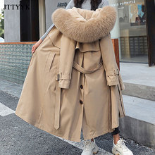 -20 Winter Down Jacket Women Hooded X-Long Parka Mujer Thick