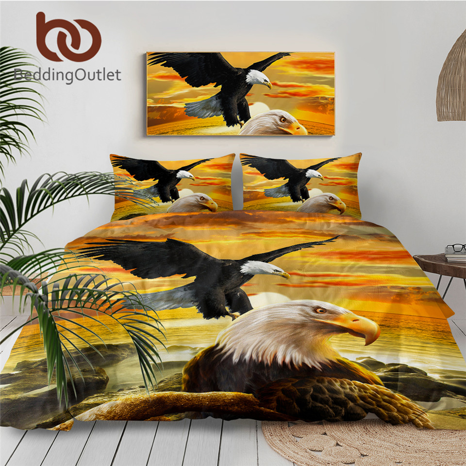 4 piece Luxurious 3D Bed Sheet Set Wild Life Animals,Flowers and Scenery Print