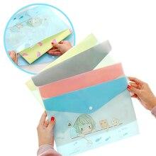 Корейские бумажные пакеты А4 ПВХ милые Мультяшные животные Менг был полупроницаемый бумажный мешок студенческие папки