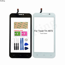 5'' Mobile Phone Touch Screen For Texet TM-4672 X-navi Touch Screen Digitizer Panel Lens Sensor TouchScreen  3M Glue Tools Wipes