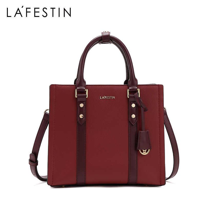 Lafestin 2019 nova bolsa feminina de luxo moda grande capacidade bolsa temperamento ombro mensageiro bolsa couro bolsas femininas