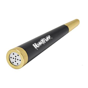 HONEYPUFF metalowa zdejmowana metalowa fajka z filtrem Herb Tobacco Pipa Smoke Accessories tanie i dobre opinie CN (pochodzenie) Prosta YD203 103 MM 4 05 Inches 22 g pc Black-Gold