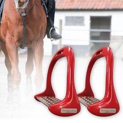 1 Pair Supplies Equestrian Safety Pedal Riding Equipment Anti Slip Outdoor Sports Horse Stirrups Durable Aluminium Alloy Treads