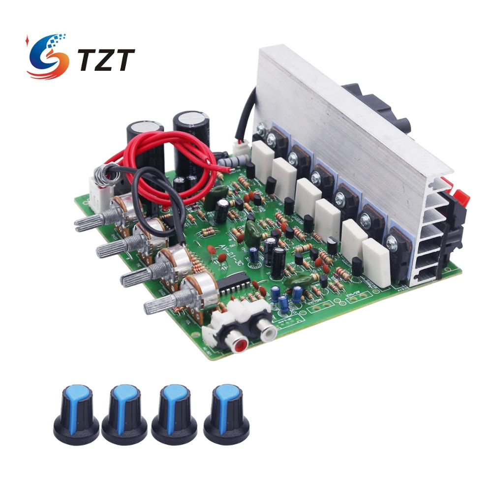 TZT 3-CH Subwoofer <font><b>Amplifier</b></font> Board <font><b>2.1</b></font> <font><b>Amplifier</b></font> Board 100W*2 + 120W*1 Fan Cooling <font><b>Amplifier</b></font> DIY image