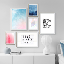 Watercolor Sky Landscape Wall Art Print Canvas Painting Nordic Poster And Prints Pictures For Living Room Decor