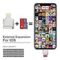 Lector de tarjetas de iPhone OTG pen dive, de 16GB memoria flash usb, 32GB, 64gb, 128gb, microSD, disco en u para dispositivos de almacenamiento externo de iOS, nuevo