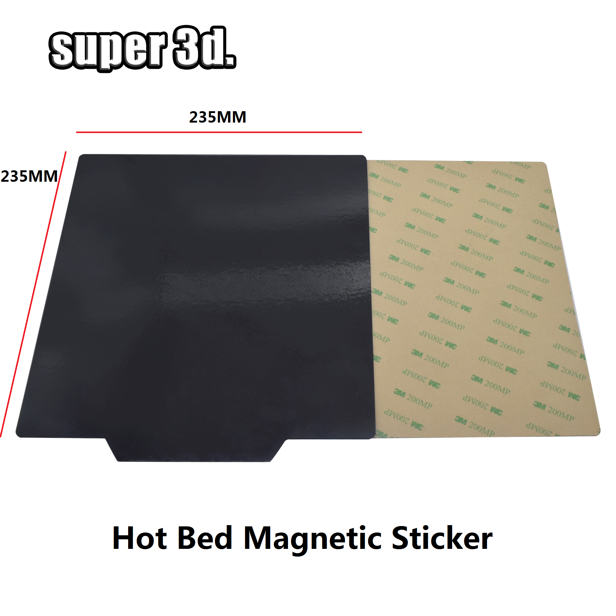 <font><b>3D</b></font> Printer Magnetic Sticker 235*235mm Square Heatbed Sticker Print Bed Tape Heat Paper For <font><b>Ender</b></font>-<font><b>2</b></font> <font><b>Ender</b></font>-3 cr-20 Hot Bed image