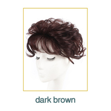 WTB Lace Hair Toupee Thin Skin Natural Hair Topper Party Hairpiece Top HairPiece Women Curly Hair Replacement Clip Closure Brown