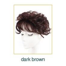 WTB dentelle cheveux toupet peau mince naturel cheveux Topper partie postiche haut postiche femmes bouclés cheveux remplacement pince fermeture marron