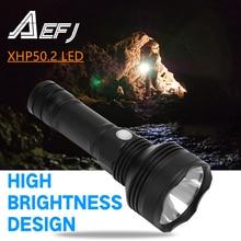 Powerful Flashlight Super-Bright 18650 Xhp50 3000lm-Lamp Camp 26650 AEFJ Cycle Waterproof