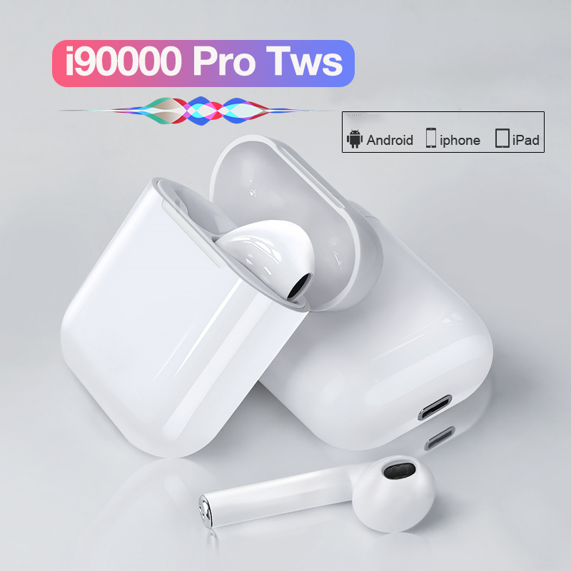 TWS i90000 Pro Bluetooth <font><b>Earphone</b></font> Wireless Headphone Handsfree <font><b>8D</b></font> Stereo For Xiaomi Huawei Samsung Earbuds with Dual Microphone image