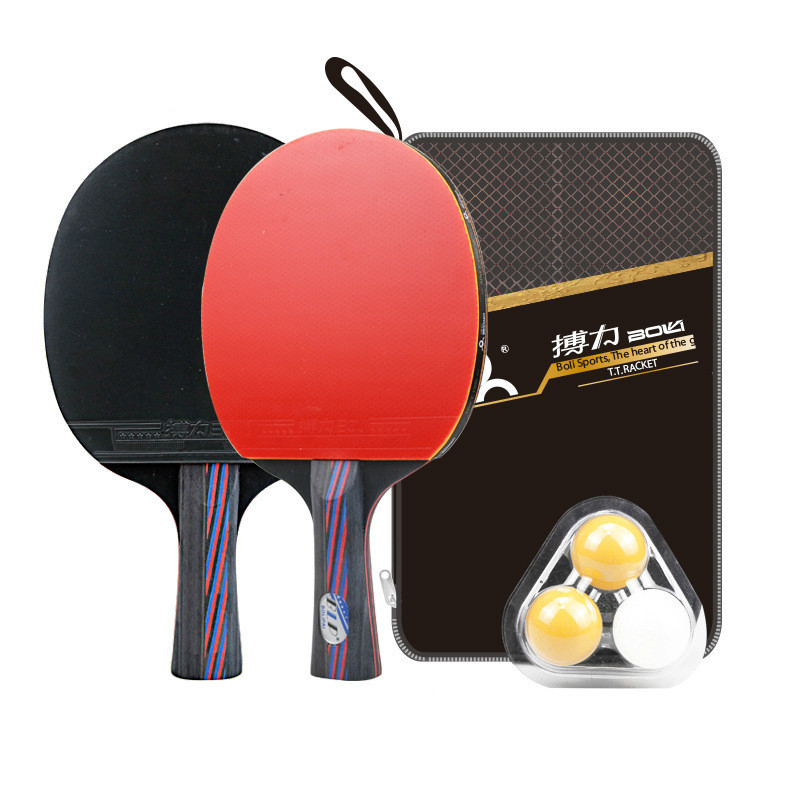 2 Pcs Table Tennis Racket A11 Pingpong Paddle Table Tennis Racquets Training Blade With Cover Table Tennis Accessories Balls