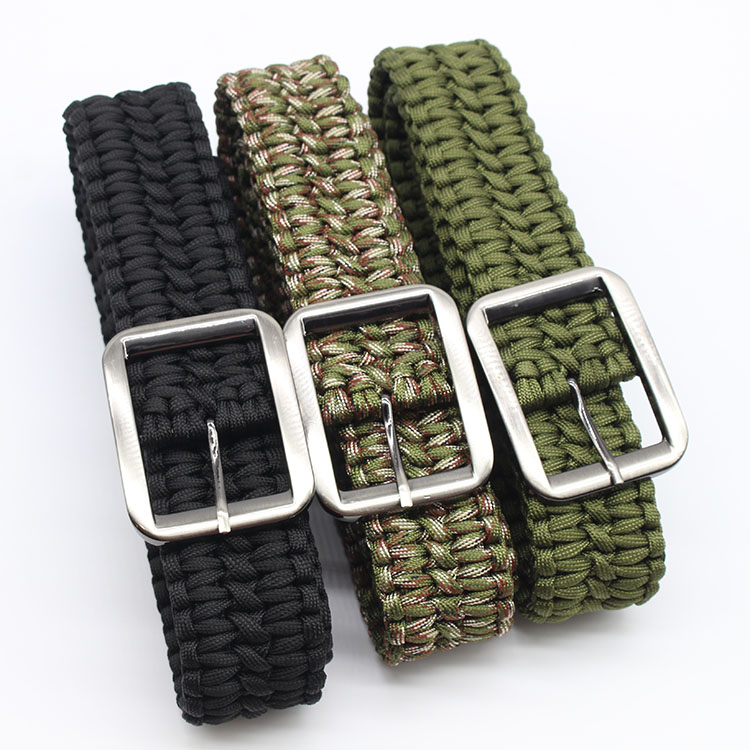 550lbs Paracord Waist Belt Hunting Accessories Survival Belt Rope Hand Made Tactical Military Waistband Camping Hiking Clothing
