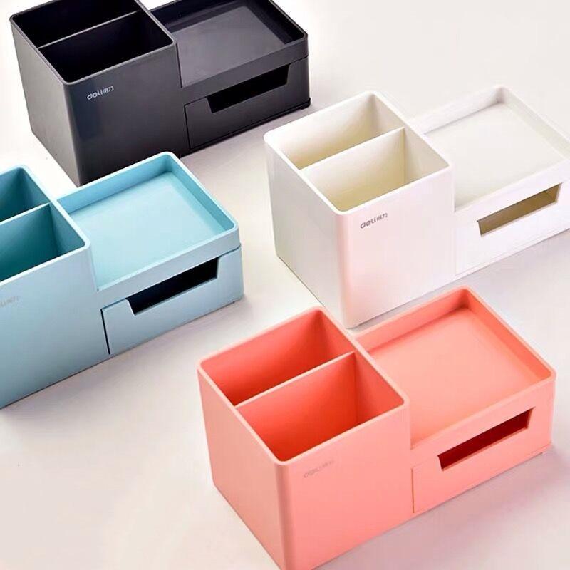 Sharkbang New Thickened ABS Resin Desk Organizer Pen Holder Desktop Storage Box Kawaii School Stationery