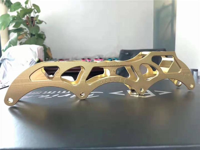 SPIRIT Leader Speed Chassis For 4 Wheels Inline Speed Skates Frame Gold Silver Black Rose 90 100 110 Race Skating Base 1 Pair
