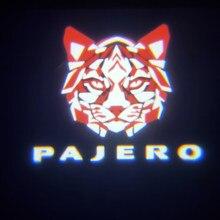 Lumière de bienvenue pour porte de voiture, 2 pièces, projecteur de Logo pour Mitsubishi Montero Grandis 2003 – 2011 Pajero 2006-2020