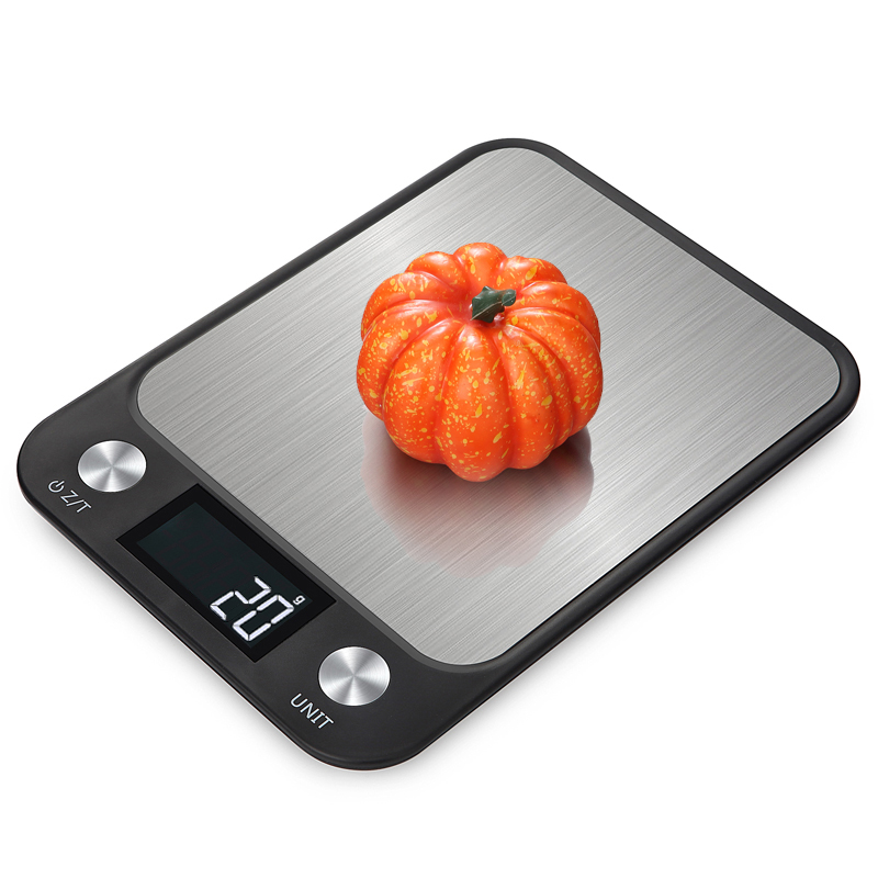 10Kg/1g LCD Display Kitchen Digital Scale Stainless Steel Food Scale Cooking Baking Weighing Weight Scale Bascula Cocina