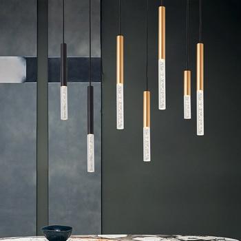 Aluminum/Acrylic Long Tube LED Pendant Lamp Ceiling Pendant Lights