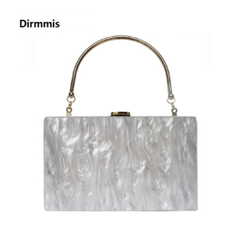 New Fashion Accessory Women Cute Bag Acrylic Candy Solid Dinner Handbag Woman Wedding Evening Bag Trendy Party Box Clutch Purse elegant lace flower box women clutch bag dinner wedding bridal party hand bag vintage white nude round evening bag for women