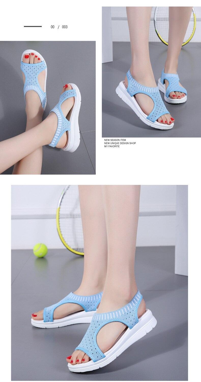 H61108c7522964d54ac8c5a4dfc1f4dffT WDZKN 2019 Sandals Women Summer Shoes Peep Toe Casual Flat Sandals Ladies Breathable Air Mesh Women Platform Sandals Sandalias