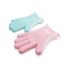 Silicone Oven Kitchen Thermal Insulation Anti Slip High Temperature Resistant Glove Cooking BBQ Grill Gloves Gadgets D35