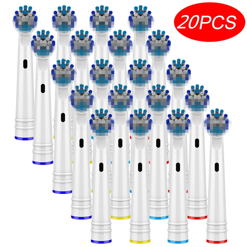 20pcs Replacement Toothbrush Heads For Oral B 3D White Toothbrush Heads Braun Electric Toothbrush Heads For Oral B Dropshipping image