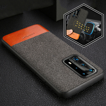 Original Leather + Canvas Phone Case For Huawei P40 Pro P40 Lite P30 P20 P10 Mate 20 Magnetic Cover For Honor 8X 10i 10 20 Pro
