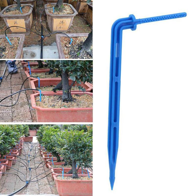 10pcs/lot One Out Four Drop Irrigation Greenhouse Greenhouse Seedling Irrigation Tool Micro Dripper Irrigation System Connectors