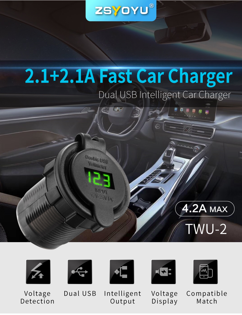 Car USB Port Charger 01
