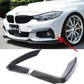 F32 F33 F36 M Sport Carbon Faser Auto Auto Front Lip Splitter Abdeckung trim für BMW 420i 425i 430i 440i M Tech 2014 2015 2016-in Stoßstangen aus Kraftfahrzeuge und Motorräder bei