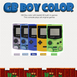 Image 2 - GB Boy handheld game console players Boy portable retro arcade game video game console With Backlit 66 Built in Games