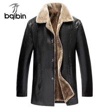Зимняя меховая кожаная куртка для мужчин размера плюс 5XL замшевые кожаные куртки для мужчин искусственный мех толстая теплая длинная замшевая куртка