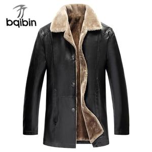 Image 1 - Winter Fur Leather Jacket Mens Plus Size 5XL Suede Leather Jackets Men Faux Fur Thick Warm Long Suede Jacket