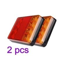 цена на 2pcs 12V Car Truck LED Rear Tail Light Warning Lights Rear Lamps Waterproof Auto Vehicle Trailer Signal Lamp Taillight Universal